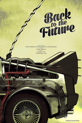 Back to the Future 1 2 3 Movie Fabric poster 36
