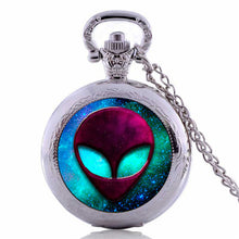 2016 wholesale UFO Alien Pocket Watch Necklace Outer Space, Science Accessories Collection