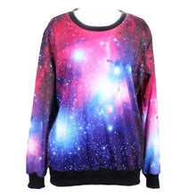 Hot Sale 2015 Spring Galaxy Women Hoodies 3D Space Digital Print Sweatshirt Harajuku Pullovers Tops Sweatsuit Women Clothes Tees