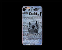 Coque For Iphone 6 Case Harry Potter Fundas Hard Transparent Plastic Phone Cover Case For iPhone 6plus 6s plus 5 SE 5S Capinhas