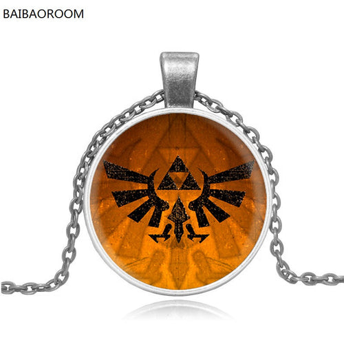 jewelry micro chapter Badge Zelda glass pendant factory direct time gem necklace