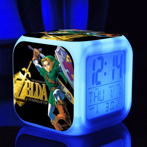 The Legend of Zelda  7 colors changes LED light Alarmclock
