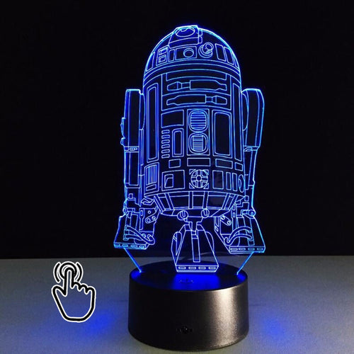 3D LED Hologram Illusion Star Wars R2-D2 7 Color USB