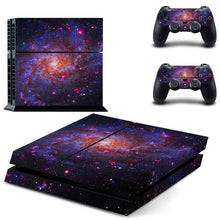 Galaxy Stars Vinyl Stickers For Sony Playstation 4 Console & 2 Controller Skin for PS4 Stickers Cover
