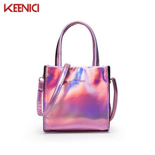 New Harajuku Brand Design Sweet Chain Laser Shoulder Bag Women Clutch Bag Girl's  Handbag Flap Bag Sac A Main Hologram Silver