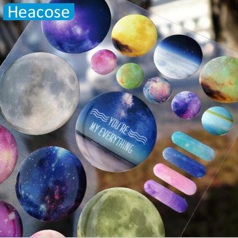 3D crystal You are My Space Stickers Diary Sticker Scrapbook phone Water bottle cup Decoration PVC Stationery DIY Wall Stickers