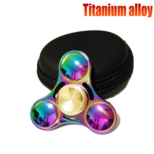 2017 New EDC Tri-Spinner Fidget Toys Pattern Hand Spinner Metal Fidget Spinner and ADHD Adults Children Educational Toys