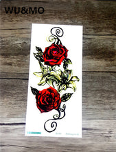 20X10cm Long Colorful High Solution Body Art Flowers Circle Design Temporary Fake Flash Tatoo Sticker Taty