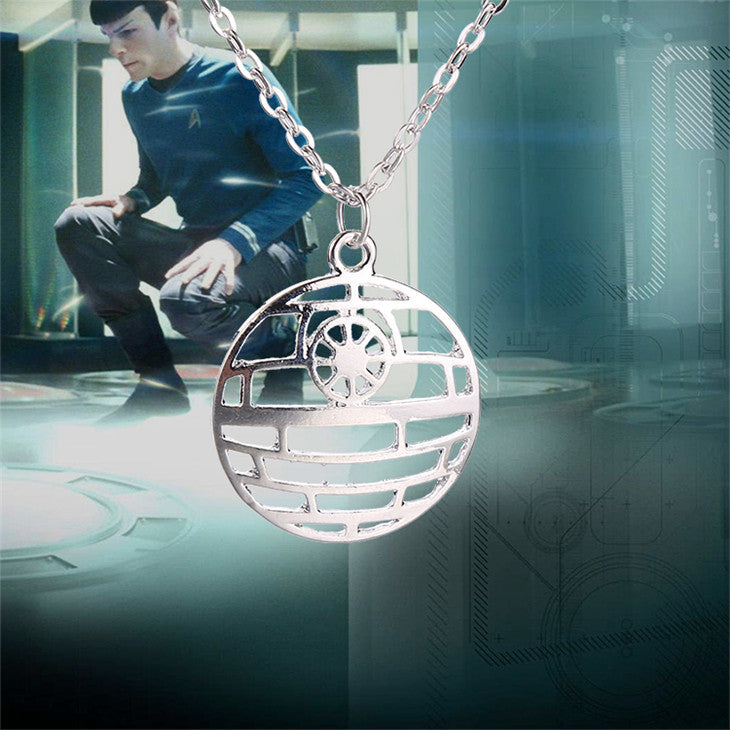 Star Trek necklace Star Wars The Death Star pendant movie jewelry for men and women wholesale