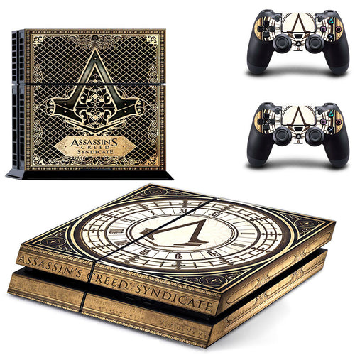 Assassins Creed Syndicate Vinyl Decal PS4 Skin Stickers Wrap for PlayStation 4 Console and 2 Controllers Decorative Skins