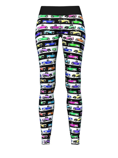 Women's Black and White Leggings | 50's Truck