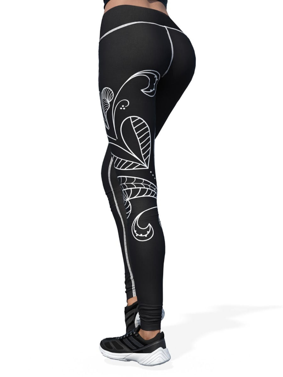Women's Design by Liin Leggings | Black Kurbits