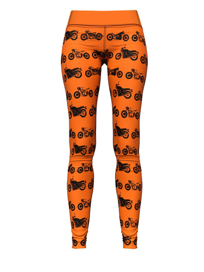 Women's Orange Leggings | Café Racer