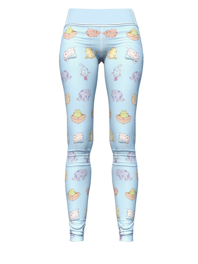 Women's Cat Leggings | Blue Kitties