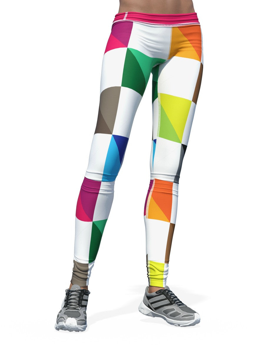 Women's Check Leggings | Color Check Zoom