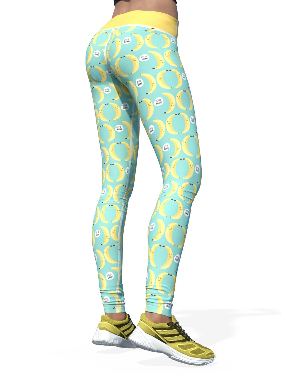 Women's Design by Liin Leggings | Let's Go Bananas