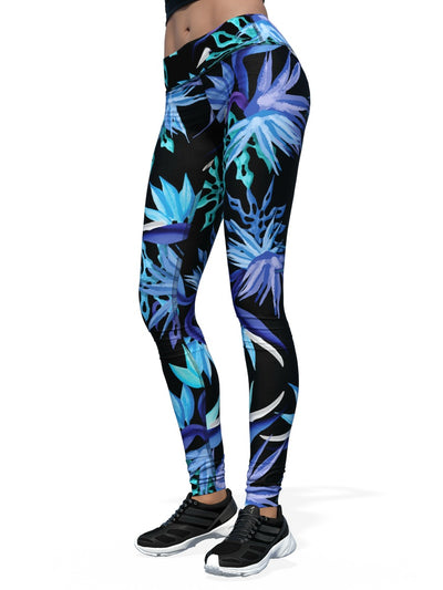 Women's Jake Wood Design Leggings | Blue B.O.P.
