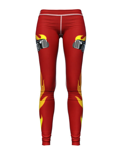 Women's Car Leggings | Oh My Hot Rod Red