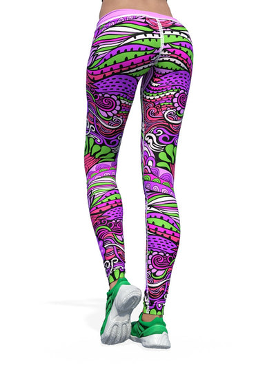 Women's Floral Leggings | The Lilac Flowerologist