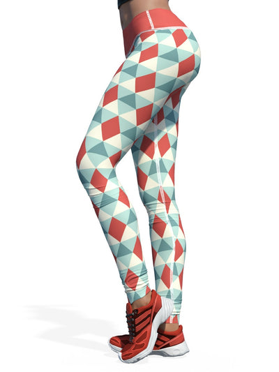 0929313320f24 Women's Christmas Leggings | Christmas Harlequin - Yikes!