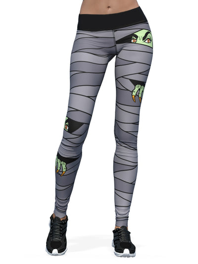 Women's Halloween Leggings | Mummified Witch