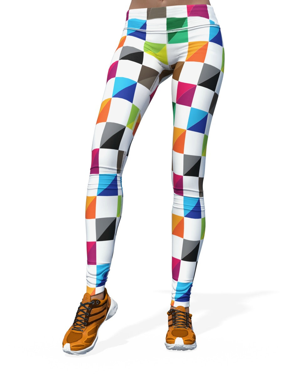 Women's Check Leggings | Color Check