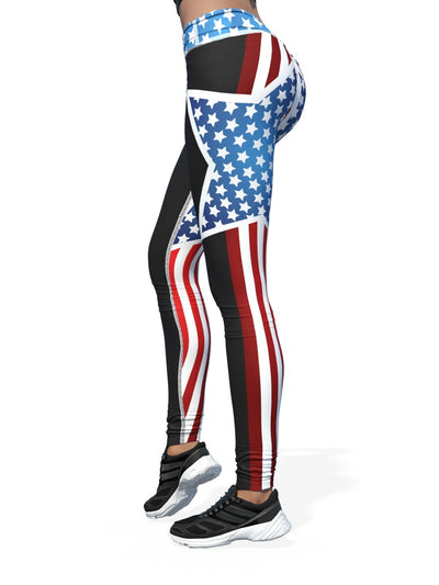 Women's Flag Leggings | Seeing Stars