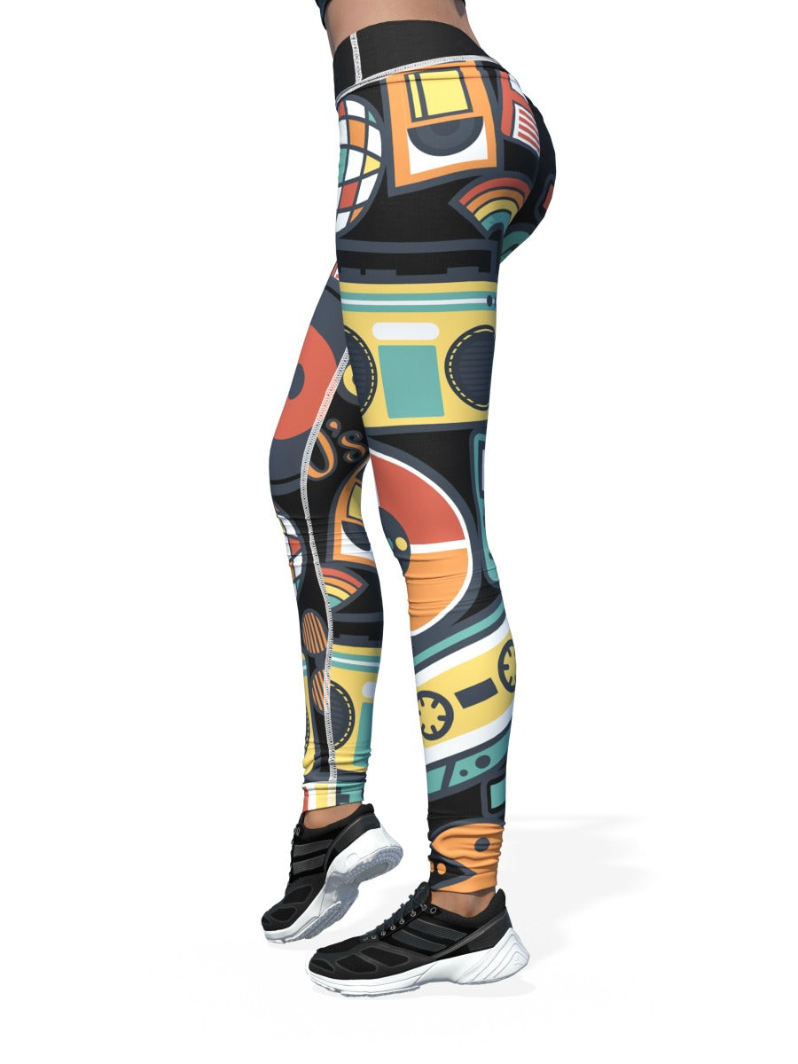 Women's Pacman Leggings | 80's