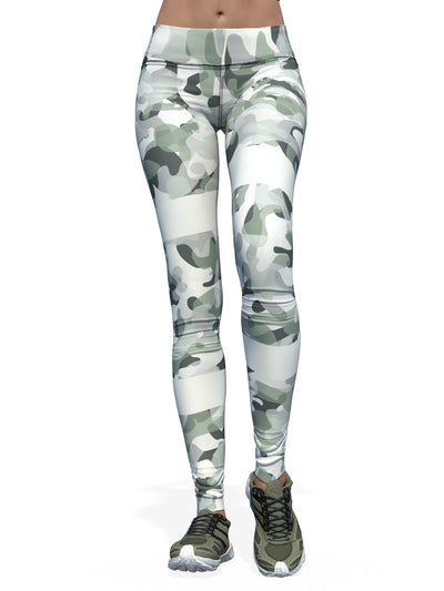 Women's Camo Leggings | Striped Camo