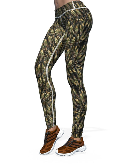 Women's Camo Leggings | Waved Camouflage Rope