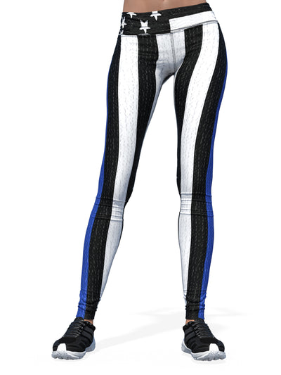 Women's Thin Blue Line Leggings | Police