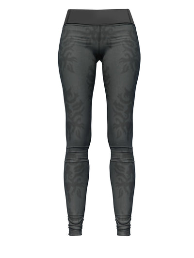 Women's Pattern Leggings | Charcoal Motif in Me