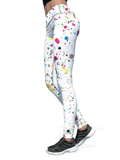 Women's Pattern Leggings | No Laughing Splatter