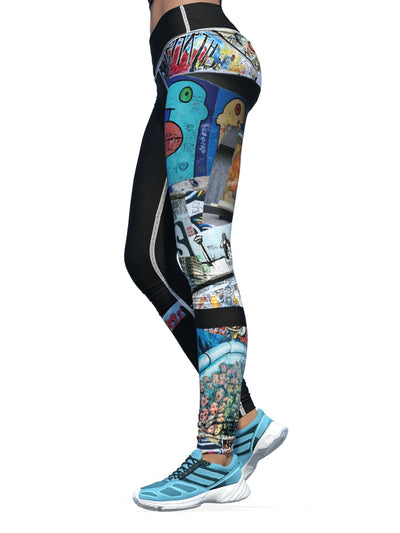 Women's Grunge Leggings | Berlin Wall