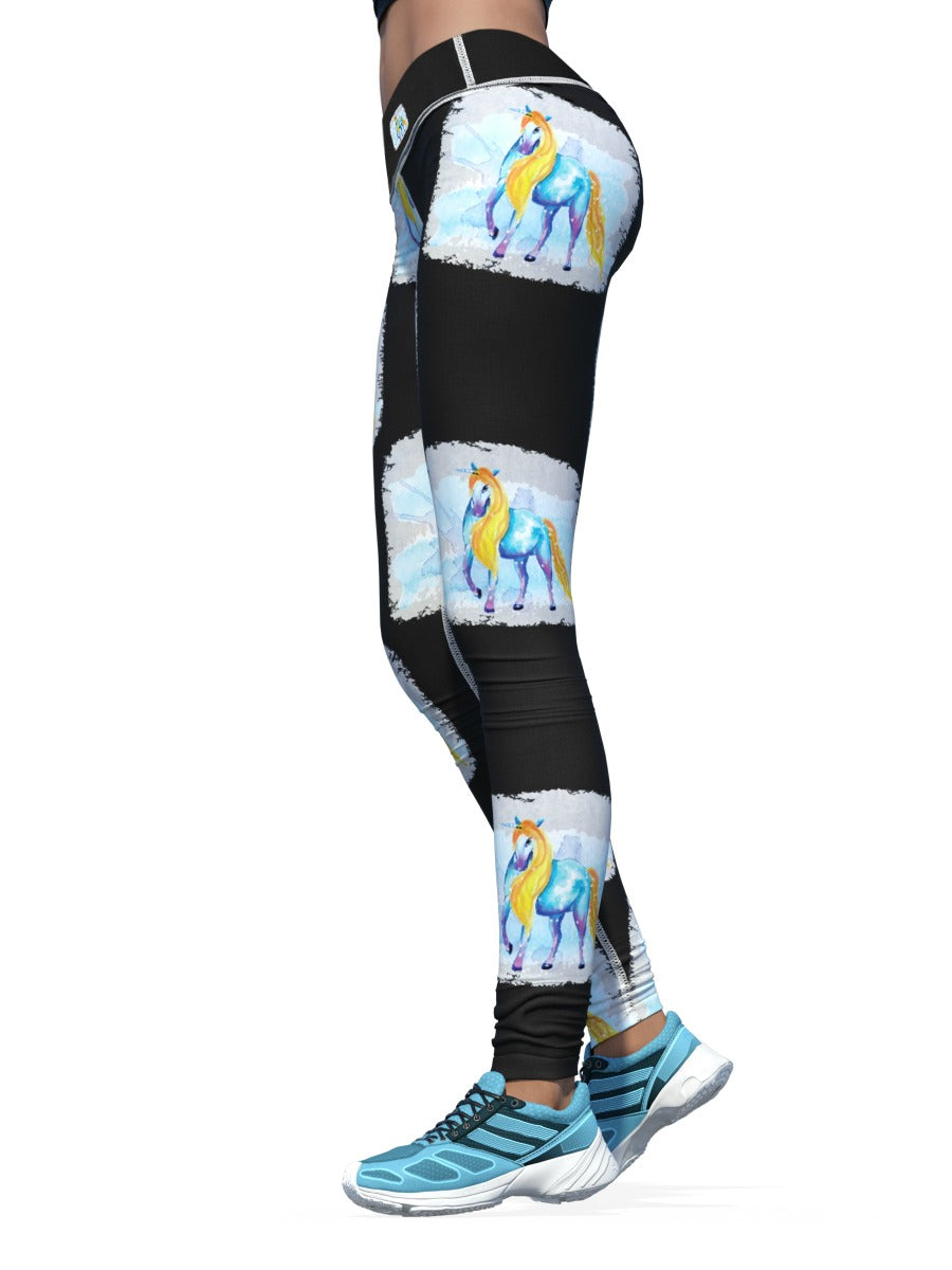 Women's Unicorn Leggings | Midnight Unicorn