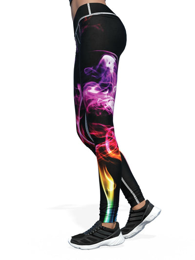 Women's Smoke Leggings | Rainbow
