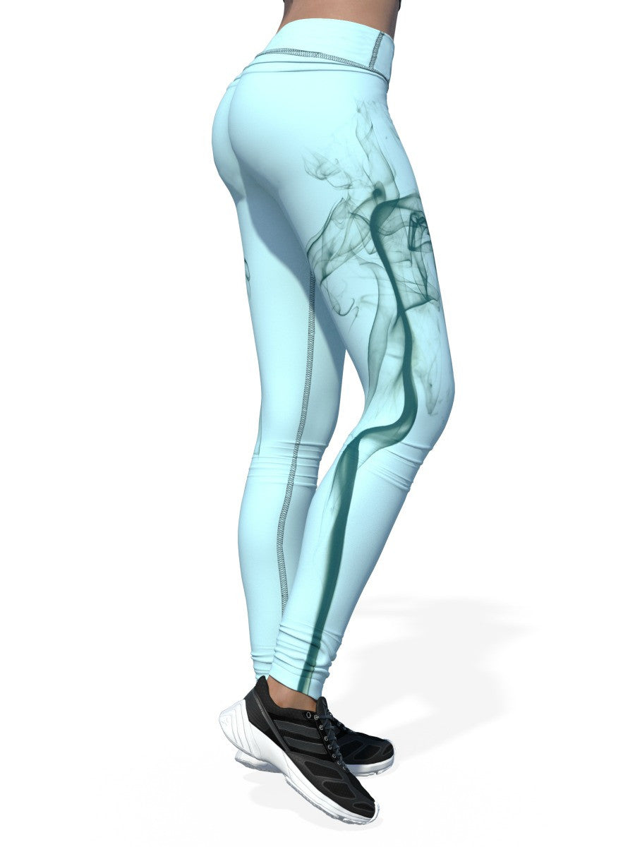Women's Smoke Leggings | Light Blue