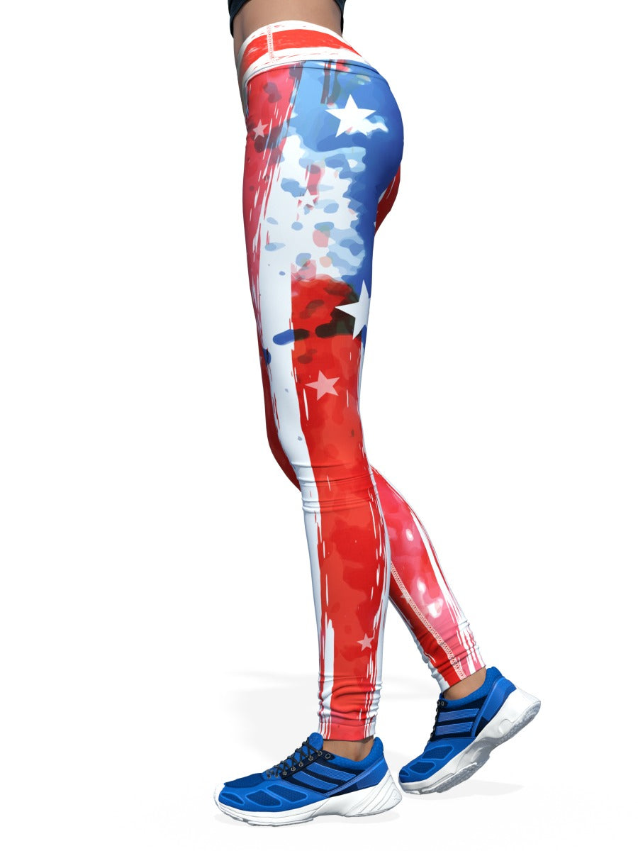 Women's American Flag Leggings | Rugged American