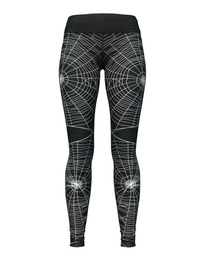 Women's Halloween Leggings | Black Widow Web