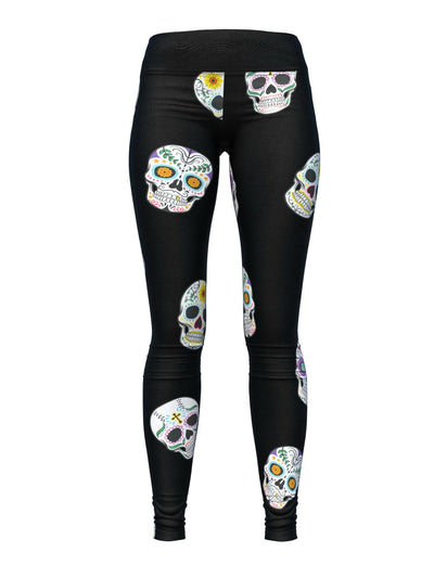 Women's Halloween Leggings | Sugar Skulls
