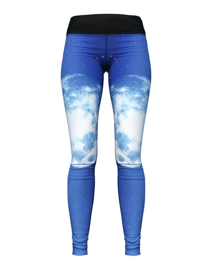 Women's Outer Space Leggings | Full Moon