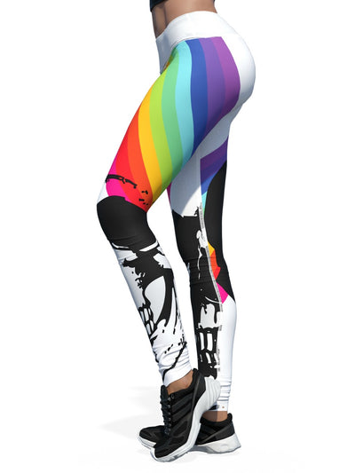 Women's Skull Leggings | Rainbow Bright