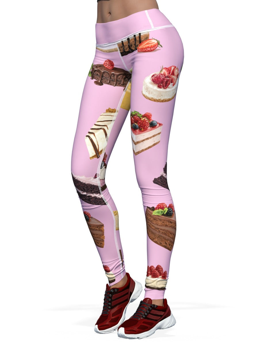 Women's Cake Leggings Cakey