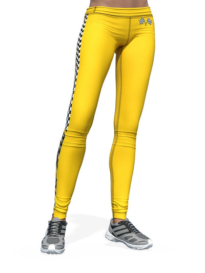 Women's Car Leggings | Top Speed Yellow