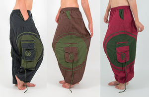 harem pants, mens festival pants, hippie trousers