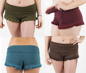 Yoga Frill Booty Shorts - Ekeko Crafts