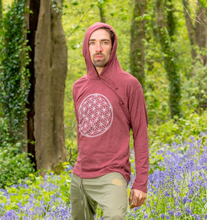 Shiva Hoodie - Flower of Life Print - Ekeko Crafts