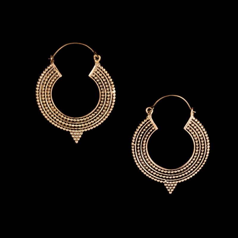 Surya Hoop Earrings - Ekeko Crafts