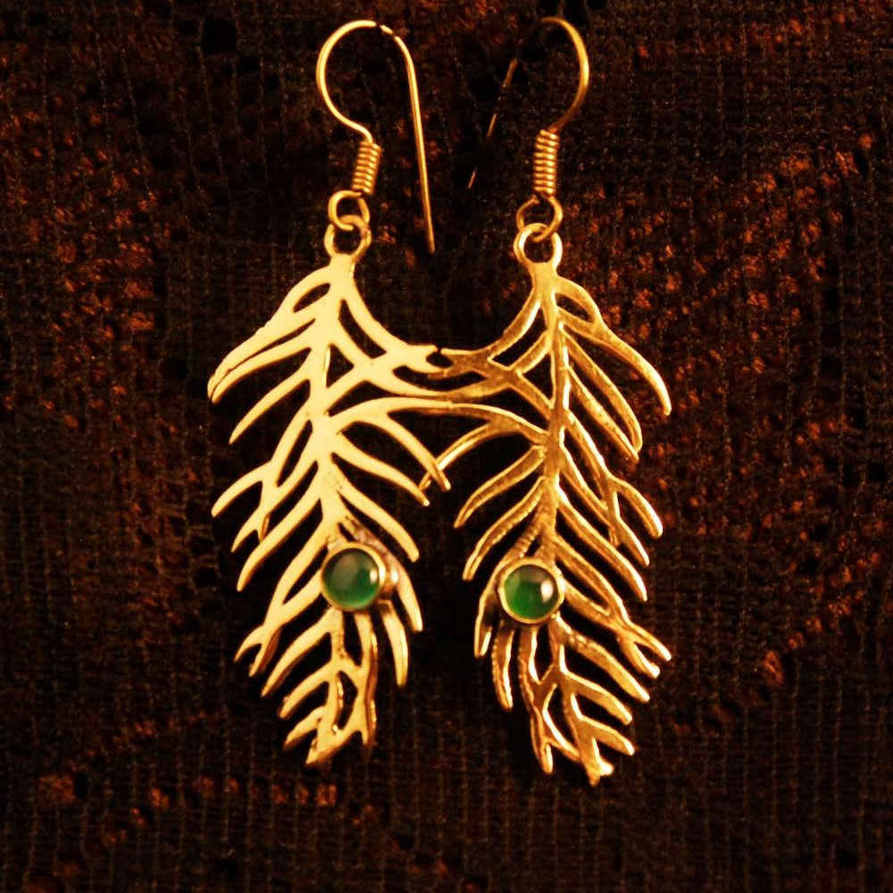 Forest Leaf Earrings - Ekeko Crafts