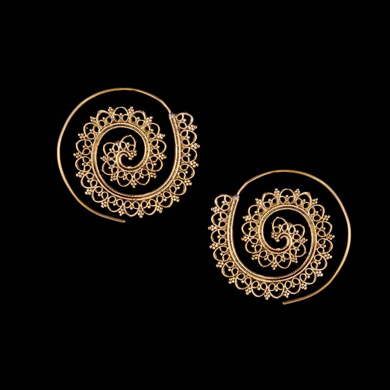 Lace Spiral Earrings - Ekeko Crafts